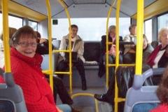 Busfahrt im November 2010 vom Beginenfenster zum zukünftigen Beginenhof in Köln-Widdersdorf